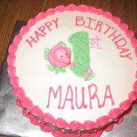 Pink Duck Cake This was a small 1st birthday cake for a friend's niece.