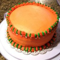 Grand Marnier Practice Cake Just practicing my Course 1 techniques. Cake was BC with Grand Marnier flavoring. Filling was cream cheese with Grand Marnier.