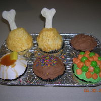 Tv Dinner Cupcakes From 'Hello, Cupcake' book - these were fun to make!