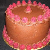 Jonesing For Chocolate! Triple chocolate cake, chocolate buttercream, fresh raspberries