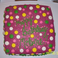 Polka Dot Birthday Made to match a napkin for a friend. I later wished I'd written in white but she loved it anyway.