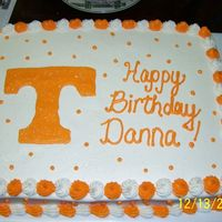 Tennessee Cake UT cake for a friend