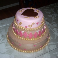 Valentine's Cake This cake made for my church's Valentine Dinner Dance. Inside all Chocolate different fillings, raspberry mousse, cookies and whipped...