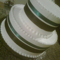 Simple Cake   real ribbon