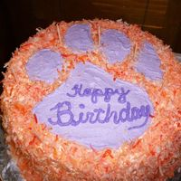 Coconut Clemson Cake I volunteer baking cakes for Hospice. They called for a coconut cake with clemson colors and a tiger paw. I feel honored when they call me...
