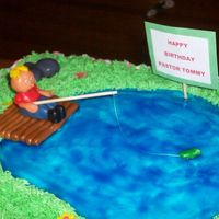 Pastor Tommy's Fishing Cake Pastor Tommy loves to fish so I had to give him a fishing cake. This was the first time I've tried to do a gumpaste man. I was very...