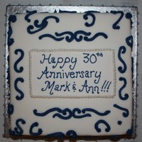30Th Anniversary Cake   Vanilla & Chocolate Buttercream Anniversary Cake