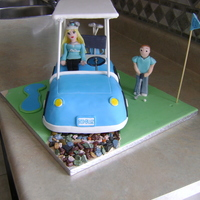 Golf Cart/couple Chocolate Pound Cake Golf Cart