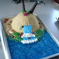 Island Blue 1 This is an island cake that I made for a rid the winter blues party...