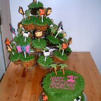 Jungle Cupcakes I made this for a friends daughter turning 1. I had been wanting to try these! they were really fun to make! She also wanted a smash cake...