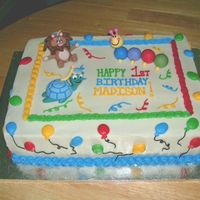Baby Einstein Cake Buttercream with fondant figures