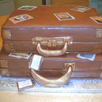 Luggage Cake   Covered in fondant with edible images