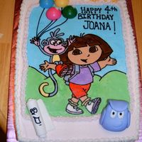 Dora Cake FBCT with a few fondant accents