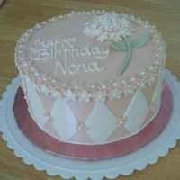 Nona's Birthday Cake Buttercream with fondant accents