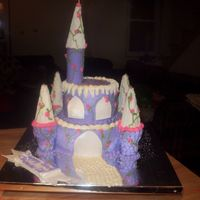 Purple Princess Castle My first castle, and it was A LOT of work. The little girl that it was for loves purple and wanted purple cake, meaning that I had to dye...