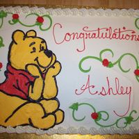 Winnie The Pooh Baby Shower 1/2 sheet with winnie the pooh
