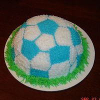 Soccer Smash Cake Smash cake to go along with my soccer field cake!