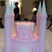 Pink Castle BC Castle with fondant/gumpaste accents. Thanks for looking!