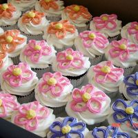 Flower Cupcakes Cupcakes for a little girl's birthday.