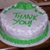 Thank You Cake Simple cake to say thank you. Chocolate cake with buttercream.