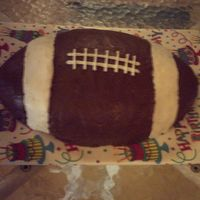 Touchdown! Chocolate cake w/ chocolate icing.