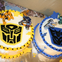 Transformers I made this one for my son's 4th birthday party. I was very nervous doing something like the Transformers since it is such an iconic...