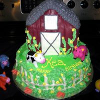 Barn Cake  I made this for my daughter's 5th birthday on Sat. I am happy with the way it turned out, but LOOOOOOTS of work! If I had know exactly...