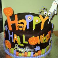 Halloween Cake With Chocolate Fondant I did A LOT of planning for this cake and it didn't turn out exactly how I wanted, but I am pretty happy with it anyway. This is a...