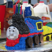 Thomas The Train Pound cake, butter cream frosting, fondant face