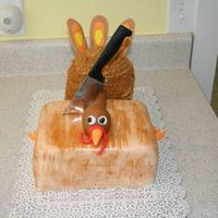 Turkey On The Chopping Block I seen the chopping block cake by kakelady00009 and thought it was too cute so I had to give it a try.