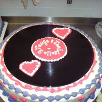 Rocka And Roll Wedding Cake Record cake #1 I cheated and used real records;)