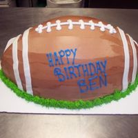 Football Cake I always love when i get to sculpt a cake, this one was fairly easy!