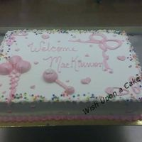 It's A Girl A slight variation of the standard baby shower cake. I love doing these.