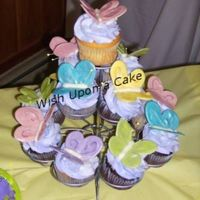 Pastel Butterfly Cupcakes Cupcakes to match Sara's cake. My friend was worried we'd have too little cake (even though there were at least 24-30 servings in...