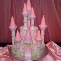Romantic Fairytale Castle  I made this for my daughter's fourth birthday. I know there are LOTS of castle cakes on CC and I looked through almost all of them to...