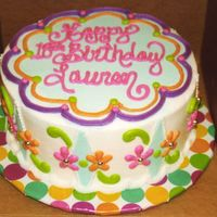 Fun Cake This cake was for a teenager. The board was covered with wrapping paper and then with contact paper. I also added the dragees. I think they...