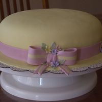Mother's Day Hat Cake White cake with lemon cream cheese filling. Everything else MMF.
