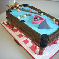 Shark In 'pool' (Pool) Table Cake  I love making birthday cakes for my son. This year for this 8th birthday, he requested a pool table cake. I asked if he wanted a '...