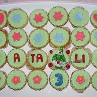 Dorothy The Dinosaur Cupcakes  These were for our goddaughter's 3rd birthday. She's a big fan of Dorothy the dinosaur (the Wiggles). She loved the cupcakes....