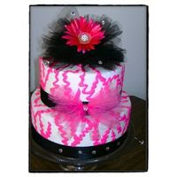 Pink Black Zebra Cake dummy done for a store window