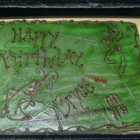 Hunting Fishing Camo Cake