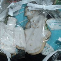 Angel And Snowman more Christmas Cookies.
