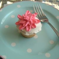 Crysanthemum Cupcake Mini cupcake used Italian Meringue :)