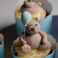 Teddy Bear 1St Birthday Cupcakes