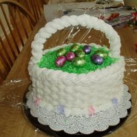 Easter Basket This is a cake I made for easter.