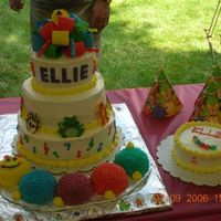 Baby Einstein 1St Birthday Cake I made this cake for my neice's 1st birthday party. The theme was baby einstein and each tier was a different type of cake. This was...