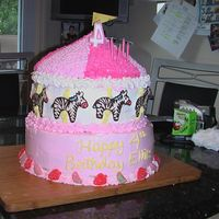 Zebra Carousel The birthday girl (my neice) wanted a pink zebra carousel cake with strawberries and watermelons.