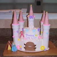 Castle Cake For 3Rd Birthday I made this castle cake for my niece's 3rd birthday.