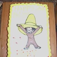 Curious George Cake Not a great picture but made this cake for my son's 2nd birthday. He loves Curious George.