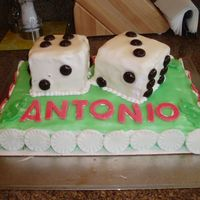 Dice Cake I made this cake for my husband's 30th birthday. A group of us are going to a casino so I thought this would be cute.